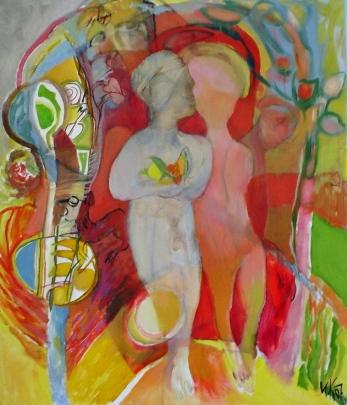 Eden-Walk, 2007, 70/60 cm., acrylic and oil on canvas;