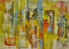 In-between realities II, 2011,160/130cm acrylic and oil on canvas