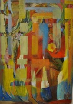 The Garden of Eden-2006, 100/70 cm, mixed media on paper
