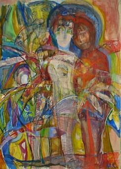The Garden of Eden II, 2006,100/70 cm mixed media on paper