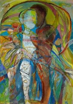 The Garden Of Eden I, 2006, 100/70cm, mixed media on paper